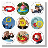 Nello by Moluk - 3 piece Toy Ring Set Assorted Colours (at random)