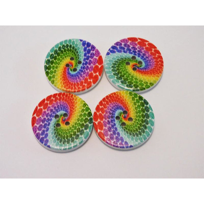 Peacock Swirl Buttons Large