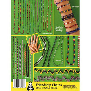 Friendship Chains Seed & Bugle Beads - by Karen Ribble Paperback Book - buy from J G Creations (Australia)