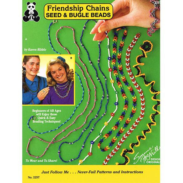 Friendship Chains Seed & Bugle Beads - by Karen Ribble Paperback Book