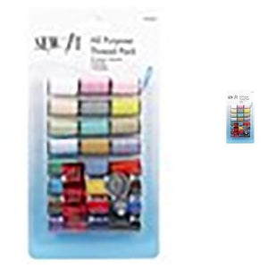 Sew It All Purpose Thread Pack 24 Spools - Mixed Colours