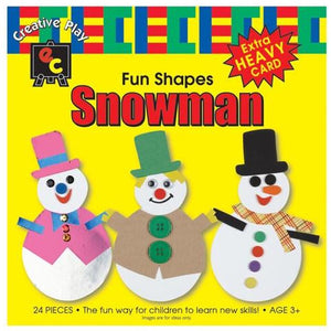 Fun Shapes Christmas Angel,  Bell, Christmas Tree, Snowman or Stocking in Packs of 24 - buy from J G Creations (Australia)
