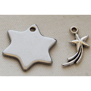 Charms Silver Toned Stars - buy from J G Creations (Australia)