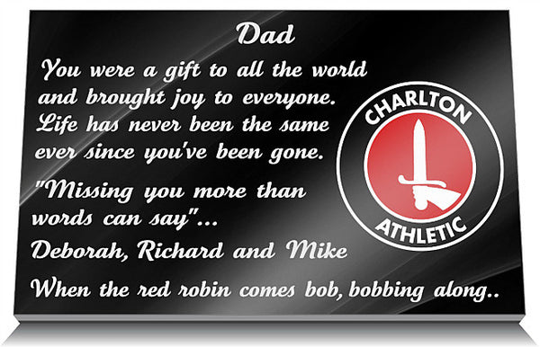Charlton Athletic Football Club memorial Tablet