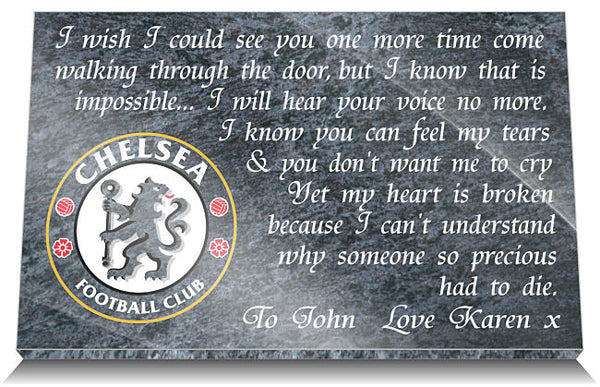 Chelsea Football Club Memorial Plaque