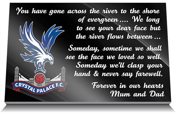 Crystal Palace Football Club Memorial Tablet