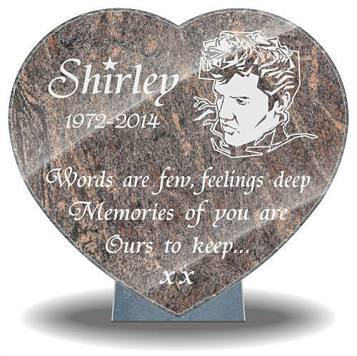 Music memorial plaques for Mum