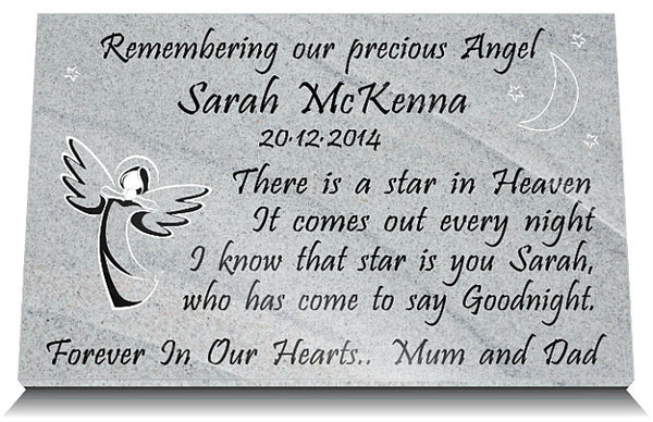 infant memorial plaque