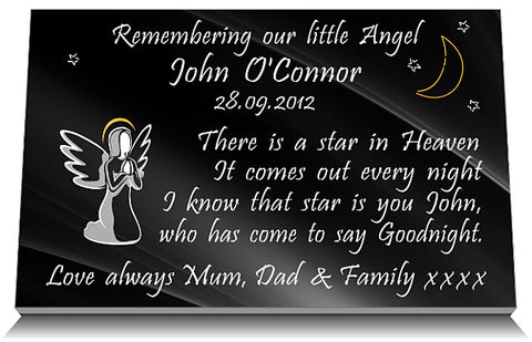 memorial plaques for infants