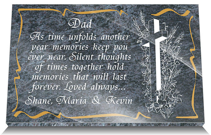 memorial plaque wording for father