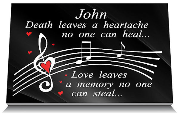Music memorial plaques for sister