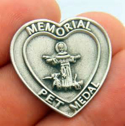 Pet Memorial Medal. Saint Francis of Assisi