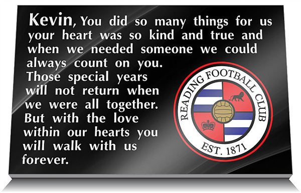 Reading Football Club Memorial Tablet