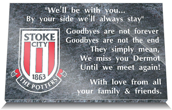 Stoke City FC Memorial Plaque