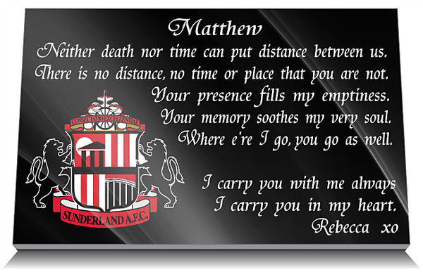 Sunderland AFC Memorial Plaque