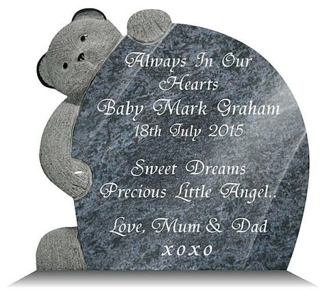 Teddy Bear Memorial Plaque
