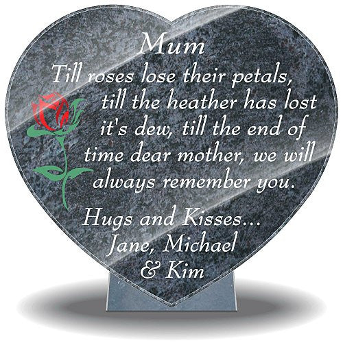 Grave Ornaments For Mum Memorial Plaques