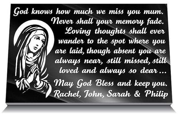 Personalized Catholic memorial gift for a mom