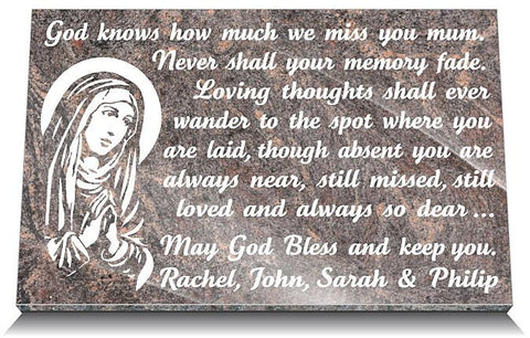 Personalized Catholic memorial gifts for mothers