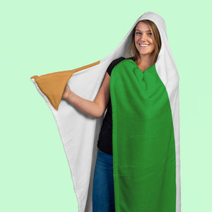 Tri-Color Irish Hooded Blanket-Two Thirds Irish