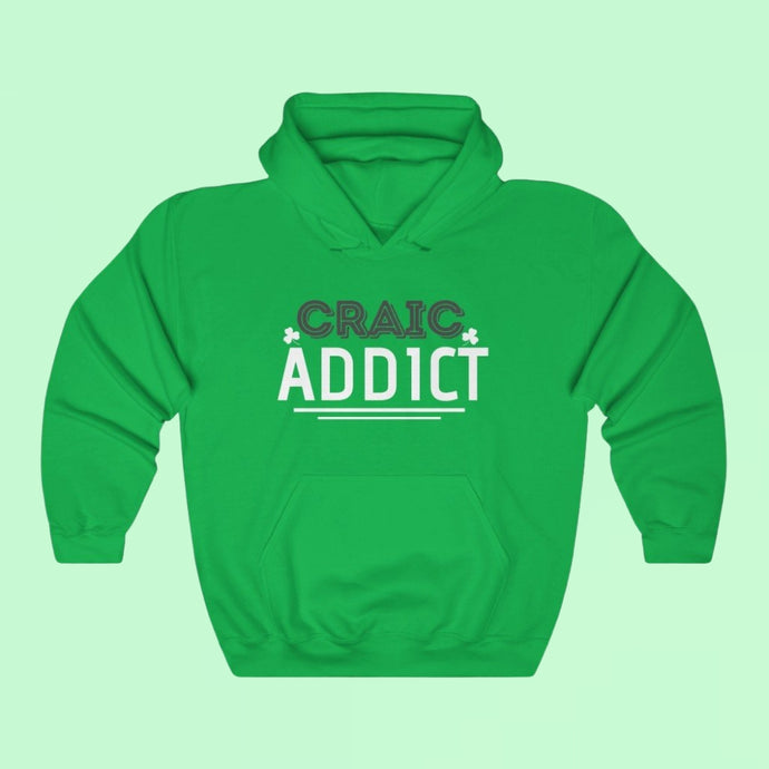 Craic Addict - Premium Irish Hoodie-Two Thirds Irish