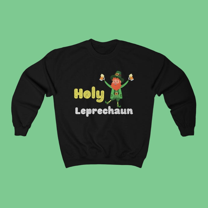 Holy Leprechaun - Irish Crewneck Sweatshirt-Two Thirds Irish