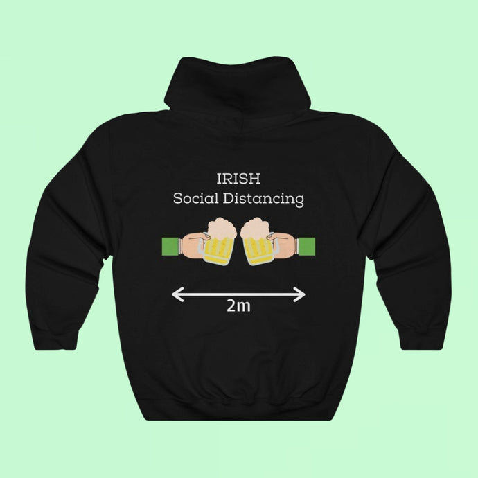 Irish Social Distancing - Premium Irish Hoodie-Two Thirds Irish