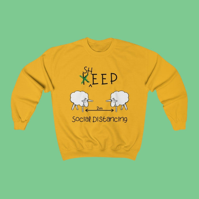 Sheep Social Distancing - Irish Crewneck Sweatshirt-Two Thirds Irish