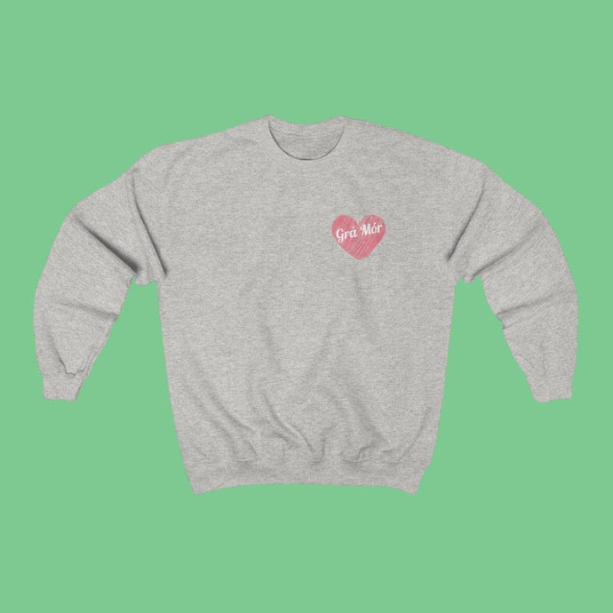 Grá Mór - BIG LOVE - Irish Crewneck Sweatshirt-Two Thirds Irish