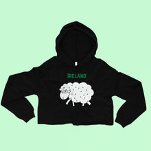 Load image into Gallery viewer, Ireland Sheep - Irish Crop Hoodie-Two Thirds Irish
