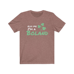 Kiss Me I'm A Boland - Short Sleeve Irish T-Shirt