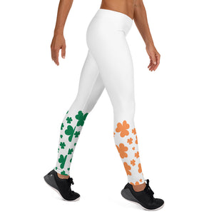 Irish Shamrock Leggings - White