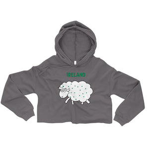 Ireland Sheep - Irish Crop Hoodie-Two Thirds Irish