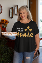 Load image into Gallery viewer, Kiss Me I'm A Adair - Short Sleeve Irish T-Shirt