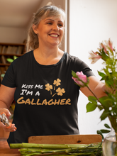 Load image into Gallery viewer, Kiss Me I'm A Gallagher - Short Sleeve Irish T-Shirt