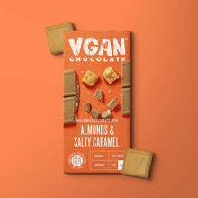 Load image into Gallery viewer, Yummy Vegan White Chocolate with Almonds & Salty Caramel - MooingOn Boxes
