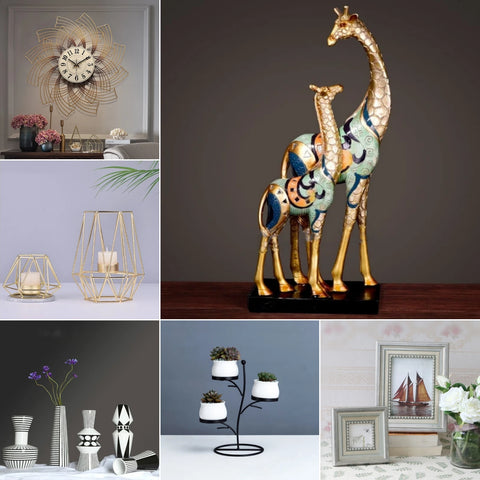 Shahi Sajawat India brings to you exclusive,high quality,best home decor products and ideas of 2020 ranging from Lightings, Rugs, Carpets, Wall Clocks, Wall Stickers, Glass Stickers, Photo Frames, Figurines, Vases, Wall hooks & Hangings,bathroom accessories, Cushion Covers and so on with free shipping all over india.