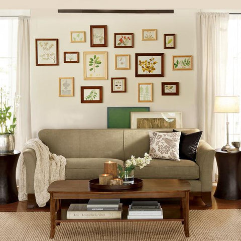 Brown & Cream 16 Pieces Wooden Combination Photo Frame Set, Rectangular shaped with picture card is easy to install,available exclusively on Shahi Sajawat India,the world of home decor products.Best trendy home decor,living room & kictchen decor ideas of 2019
