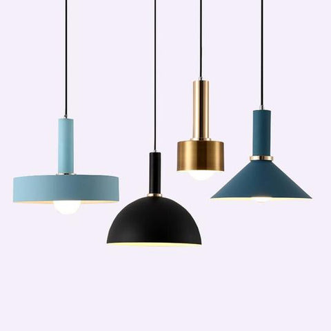 Golden,Black,Blue,Pink Iron LED Pendant Lights Of Voltage 85-265V,AC Power Source,Cord Installation,E27 Base & Lighting Area of 15-30 square meters,available exclusively on Shahi Sajawat India, the world of home decor products.Best trendy home decor and living room decor ideas of 2019.
