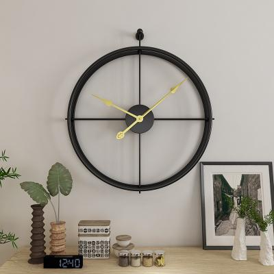 Large Black With Black Needles Circular Metal Quartz Wall Clock of diameter 55cm with display type of needle,1×AA Carbon Battery Operated,abstract patterned,width of 55cm,single face form.Weight is 2000g, available exclusively on Shahi Sajawat India, the world of home decor products.Best home decor and living room decor ideas of 2019.