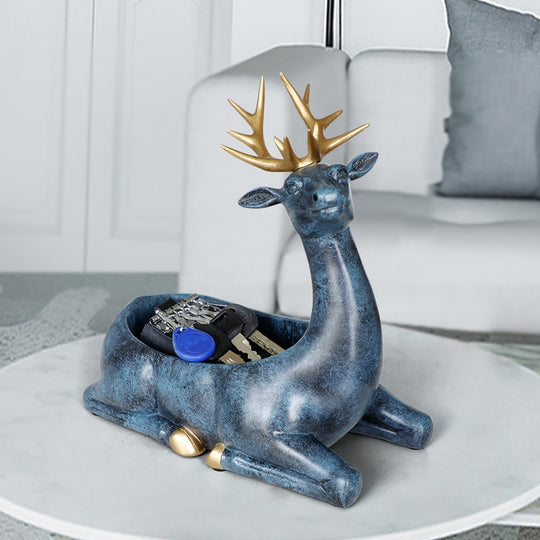 White/Pink/Blue/Texture Blue Resin Deer Storage Box Figurines Are Hand Painted Sculptures Size: 26.5×25×15×12cm,available exclusively on Shahi Sajawat India,the world of home decor products.Best trendy home decor, living room and kitchen decor ideas of 2019.