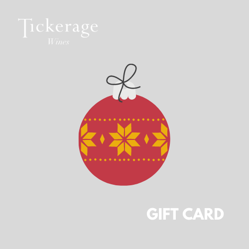 Tickerage Wine Christmas Gift Card