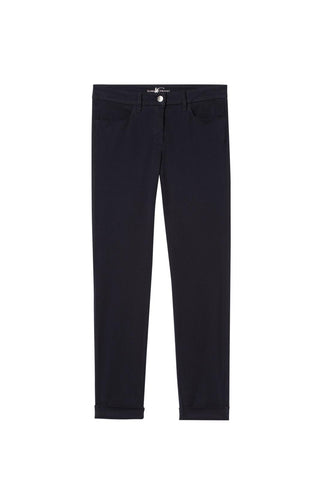 LUISA CERANO SUPERSOFT STRETCH COTTON TROUSER IN MIDNIGHT