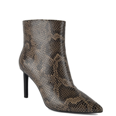 ASH BIANCA SNAKE PRINT LEATHER ANKLE BOOT