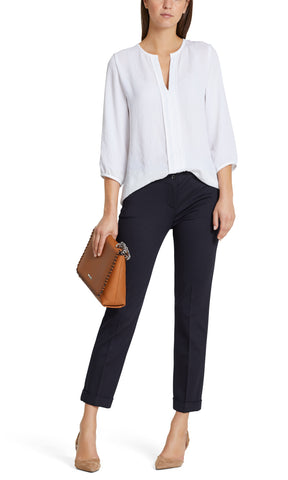 MARC CAIN ESSENTIEL JERSEY CROPPED TROUSER- MIDNIGHT