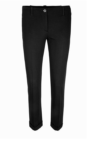 MARC CAIN ESSENTIEL JERSEY CROPPED TROUSER-BLACK