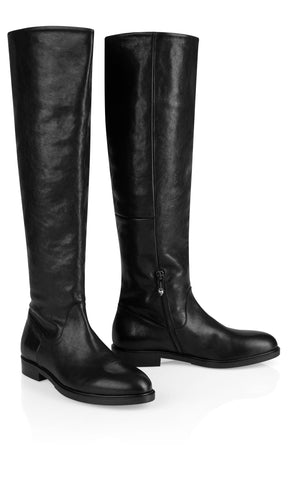 MARC CAIN BLACK LEATHER RIDING BOOT