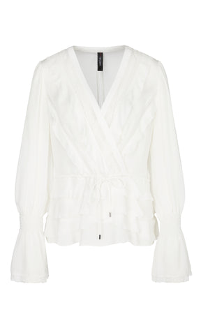 MARC CAIN PURE SILK ROMANTIC BLOUSE
