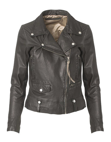 MDK SEATTLE THIN BLACK LEATHER JACKET
