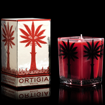 ORTIGIA MELOGRANO LARGE SQUARE CANDLE